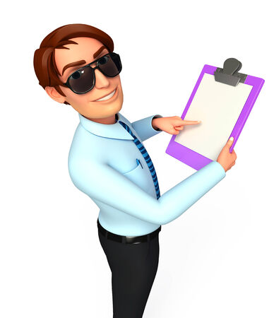 service man: Service man with notepad Stock Photo