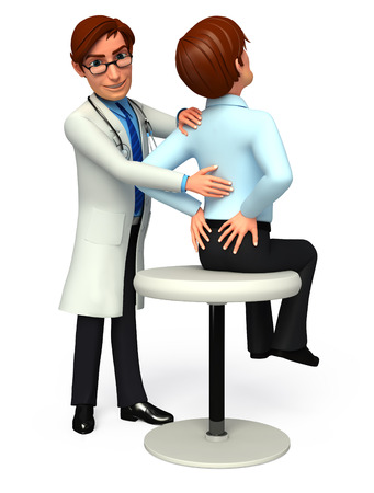 quot: Doctor analyses patient Stock Photo