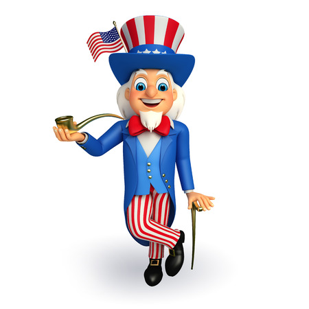 sam: Illustration of Uncle Sam  Stock Photo