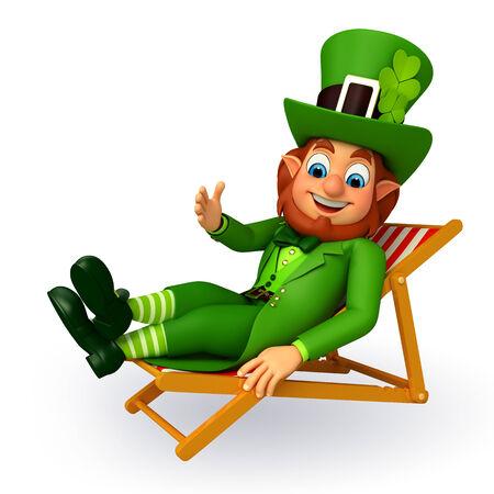 Illustration of leprechaun for patrick day illustration