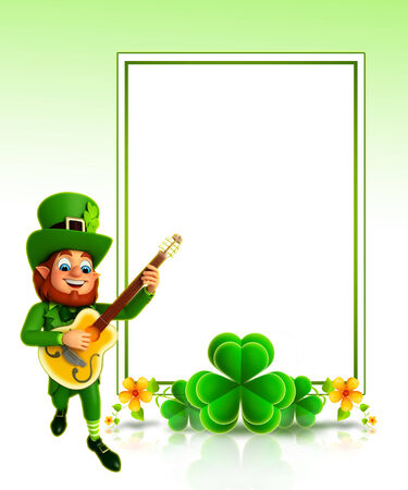gitar: leprechaun for patrick s day with gitar Stock Photo
