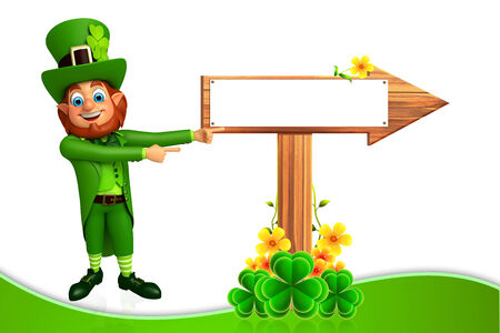 leprechaun hat: illustration of  Stock Photo