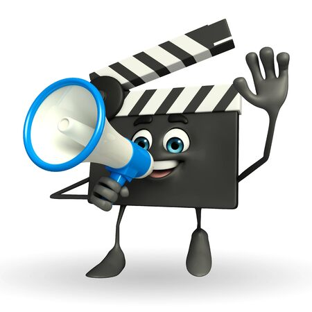 episode: Cartoon Character of Clapper Board with loudspeaker