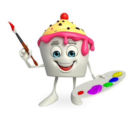 Cartoon Character of Ice Cream with Color plate photo