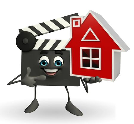 episode: Cartoon Character of Clapper Board with home
