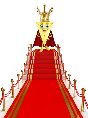 Cartoon Character of Cheese on the red carpet