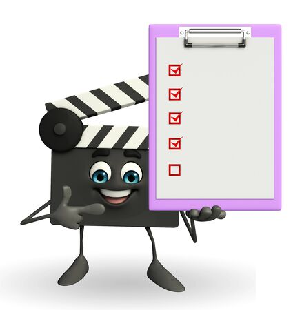 episode: Cartoon Character of Clapper Board with notepad