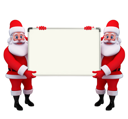 Illustration of santa claus with display board illustration
