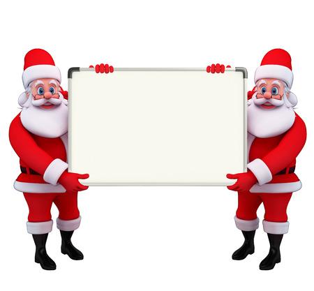 hombre escribiendo: Ilustraci�n de Pap� Noel con la tarjeta de pantalla