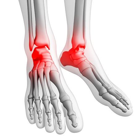 human joint: Illustration of human joint pain Stock Photo