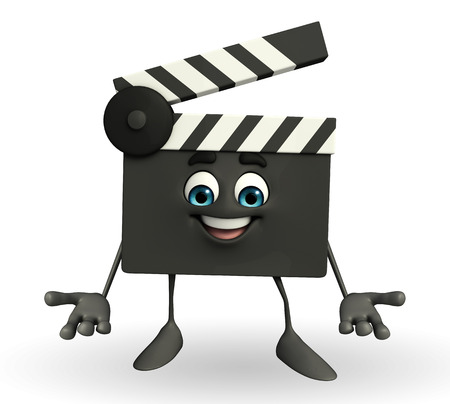 Cartoon Character of Clapper Board  photo