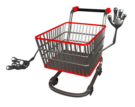 trolly: The cartoon charecter of trolly with presenting pose