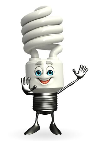 Cartoon Character of CFL is happy pose