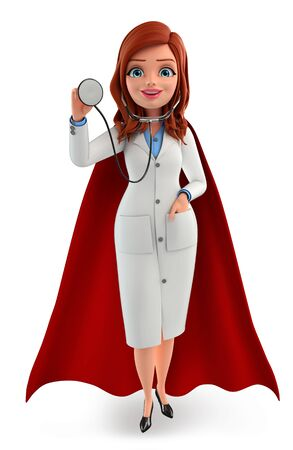 heros: Illustration of Young super Doctor