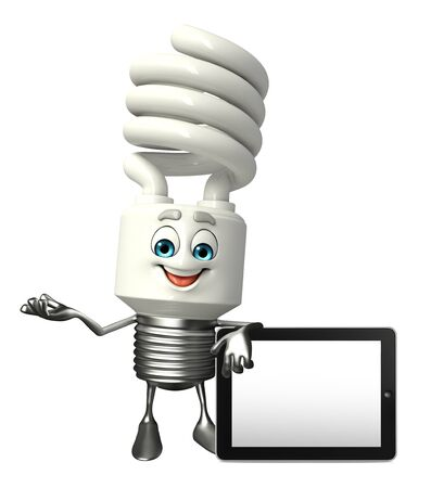 Cartoon Character of CFL with tab