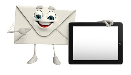 Cartoon Character of mail with tab photo