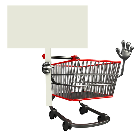 trolly: The cartoon charecter of trolly with sign