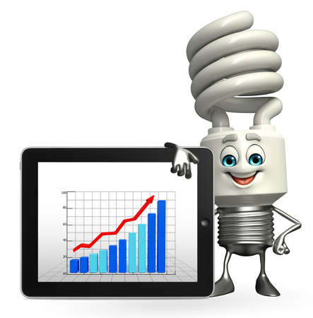 Cartoon Character of CFL with business tab photo