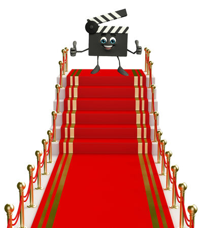 episode: Cartoon Character of Clapper Board on the red carpet