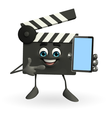 episode: Cartoon Character of Clapper Board with mobile
