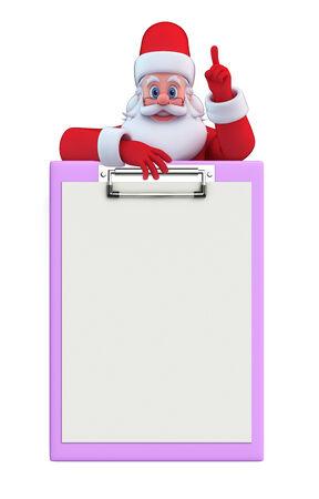 hombre rojo: Ilustraci�n de Pap� Noel con la libreta Foto de archivo