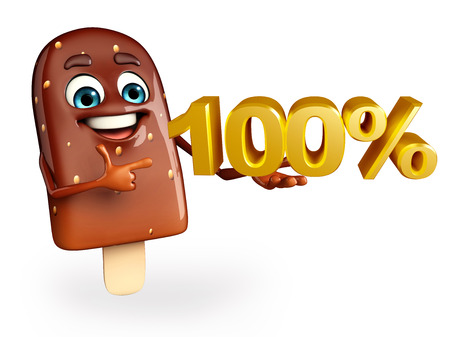 flavored: Cartoon Character of Candy with Percent sign