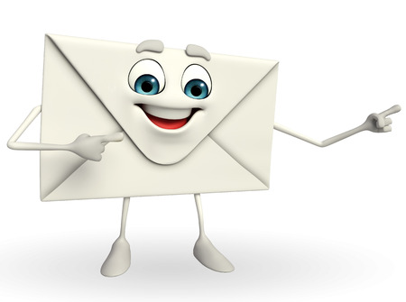 hint: Cartoon Character of mail is pointing