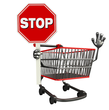 trolly: The cartoon charecter of trolly with stop sign
