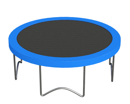 A lot of fun jumping on a trampoline