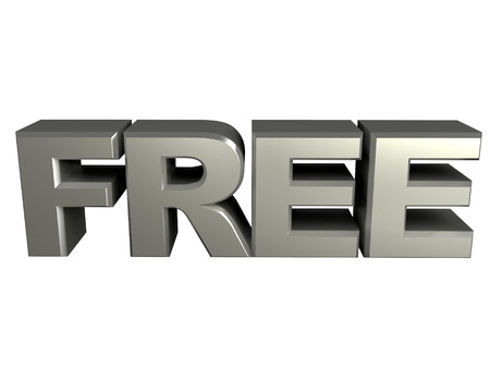 3d Silver Free text Sign photo