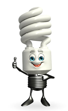 Cartoon Character of CFL with thumbs up pose photo