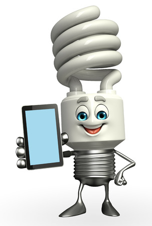 fuze: Cartoon Character of CFL with mobile