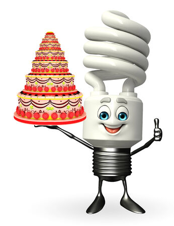 Cartoon Character of CFL with cake