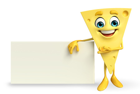 toughness: Cartoon Character of Cheese with sign