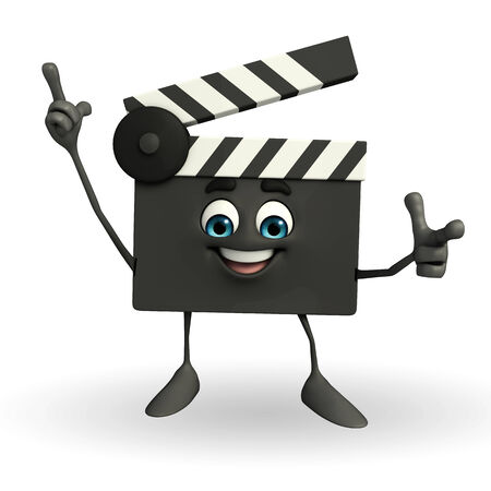 episode: Cartoon Character of Clapper Board with pointing pose