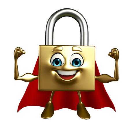 superheroes: Cartoon Character of Super lock