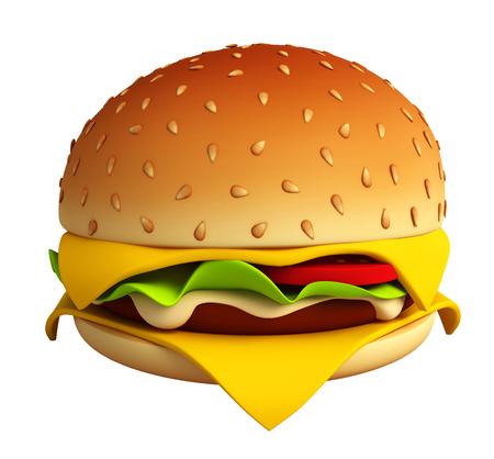 chicken burger: Big and tasty burger Stock Photo