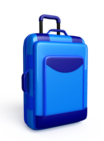 luggage pieces: Traveling bag isolated