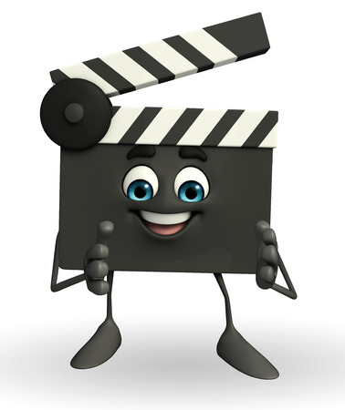 Cartoon Character of Clapper Board with clapping pose photo
