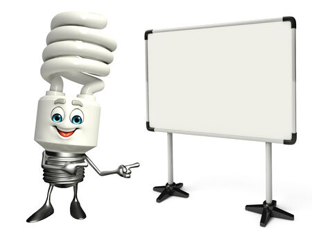 Cartoon Character of CFL with display board photo