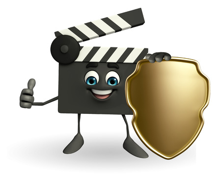 episode: Cartoon Character of Clapper Board with shield