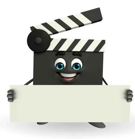 episode: Cartoon Character of Clapper Board with sign