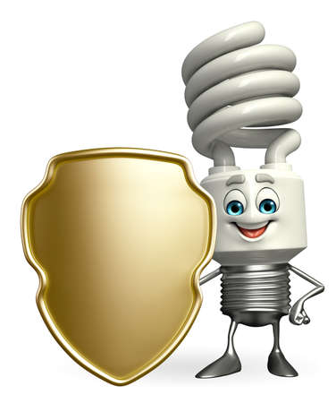 Cartoon Character of CFL with shield