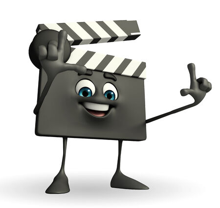 episode: Cartoon Character of Clapper Board with director pose