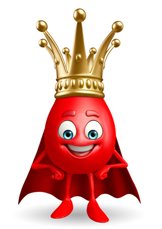 heros: Cartoon Character of super Blood Drop with crown