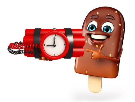 time bomb: Cartoon Character of Candy with time Bomb