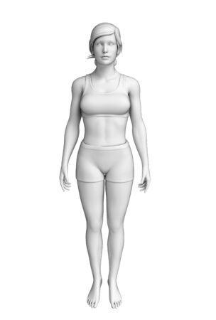 Illustration of female body artwrok illustration