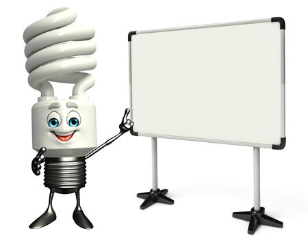 Cartoon Character of CFL with display board