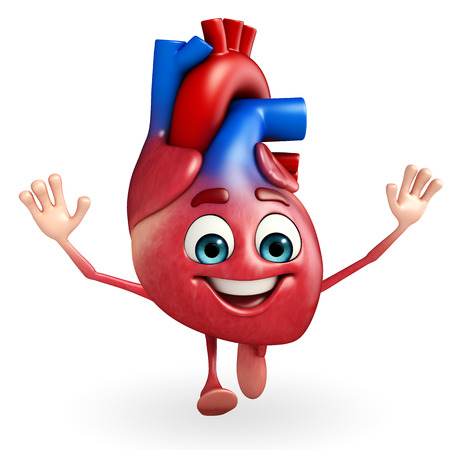 thumbup: Cartoon Character of heart with happy pose