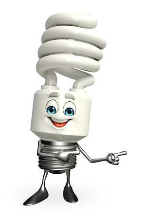 Cartoon Character of CFL is pointing photo